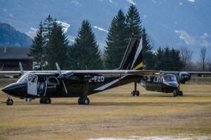 Britten Norman Islanderid Austrias Nikolsdorfi lennuväljal (foto Brunner Images)